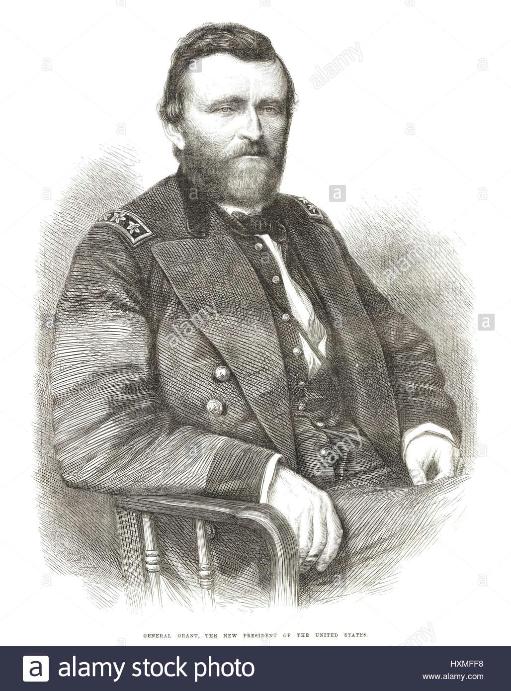 Ulysses S Grant Cartoon Drawing President Ulysses S Grant Stock Photos President Ulysses S Grant