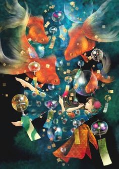 wind chimes picsart anime art drawings story ideas underwater spotlight bubble art drawings