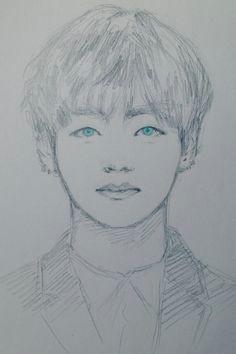 kpop drawings bts chibi taehyung kpop fanart korean art jimin