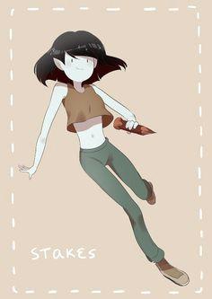 marceline as the vampire killer in adventure time s mini series stakes adventure time anime
