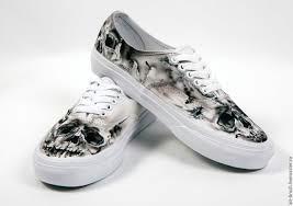 portraits handmade livemaster handmade buy shoes vans drawing skull jpg 1280x903 vans drawing