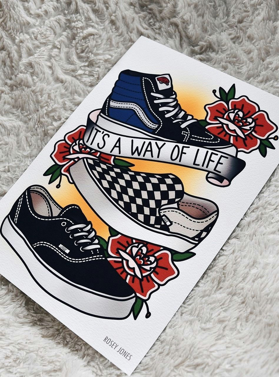 Vans Drawing Tumblr Your Weekly Art Fix by Rosey Jones Eye Candy Pinterest Art