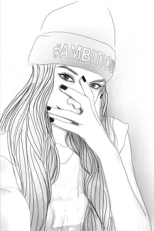 girl drawings tumblr outline drawings tumblr girl drawing tumblr art hipster girl