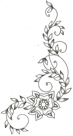 vines and flower by thelob on deviantart vine drawing flower pattern drawing flower