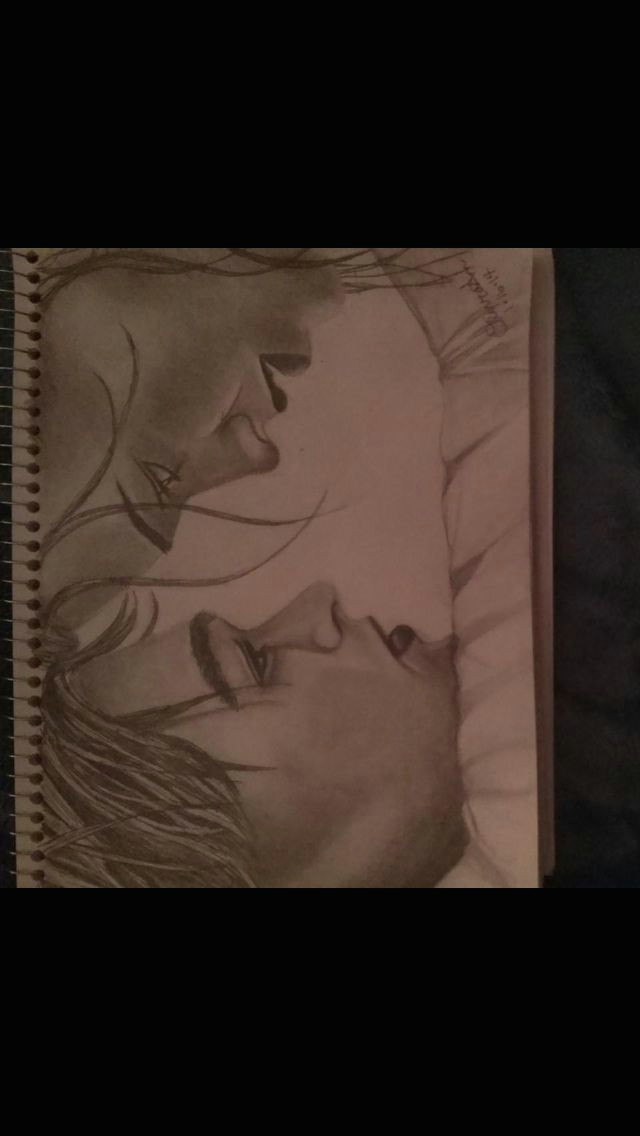 my drawing of jack and rose from the titanic