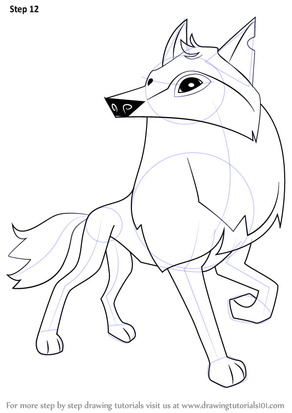 learn how to draw arctic wolf from animal jam animal jam step by step drawing tutorials