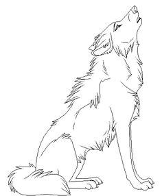 cartoon animal howling wolf coloring pages punzieren bilder zeichnen ideen furs zeichnen waldtiere