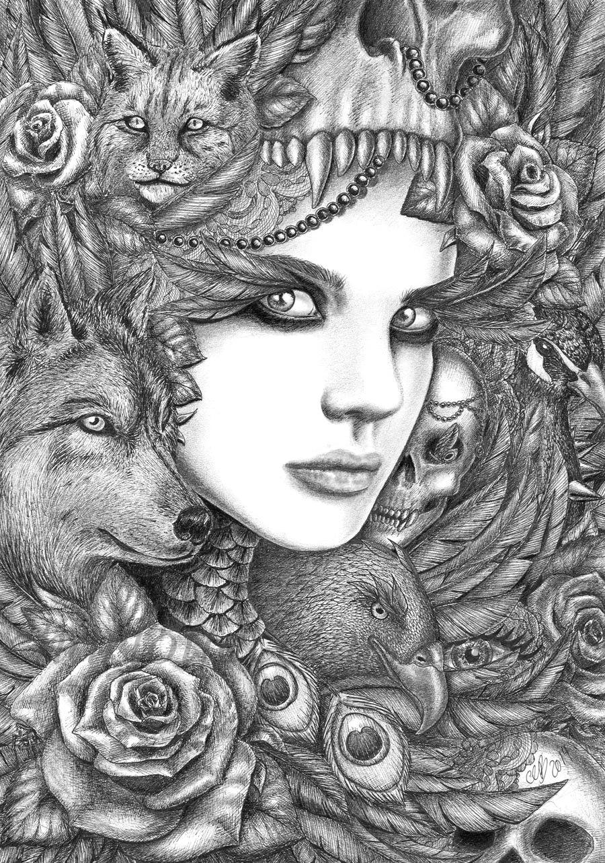 wolf by fnigen on deviantart