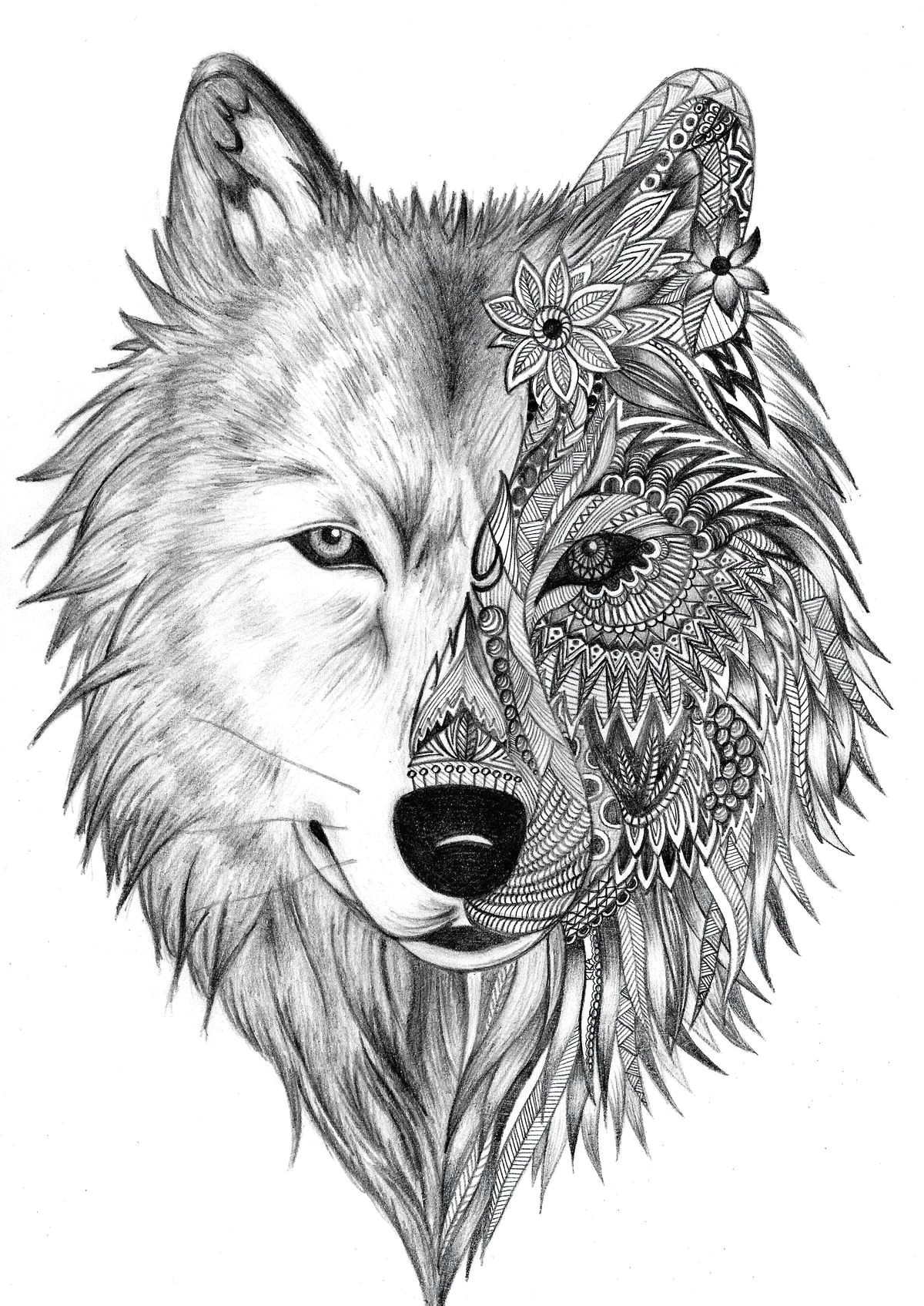 wolf face drawing wolf face tattoo wolf tattoo tribal lion thigh tattoo