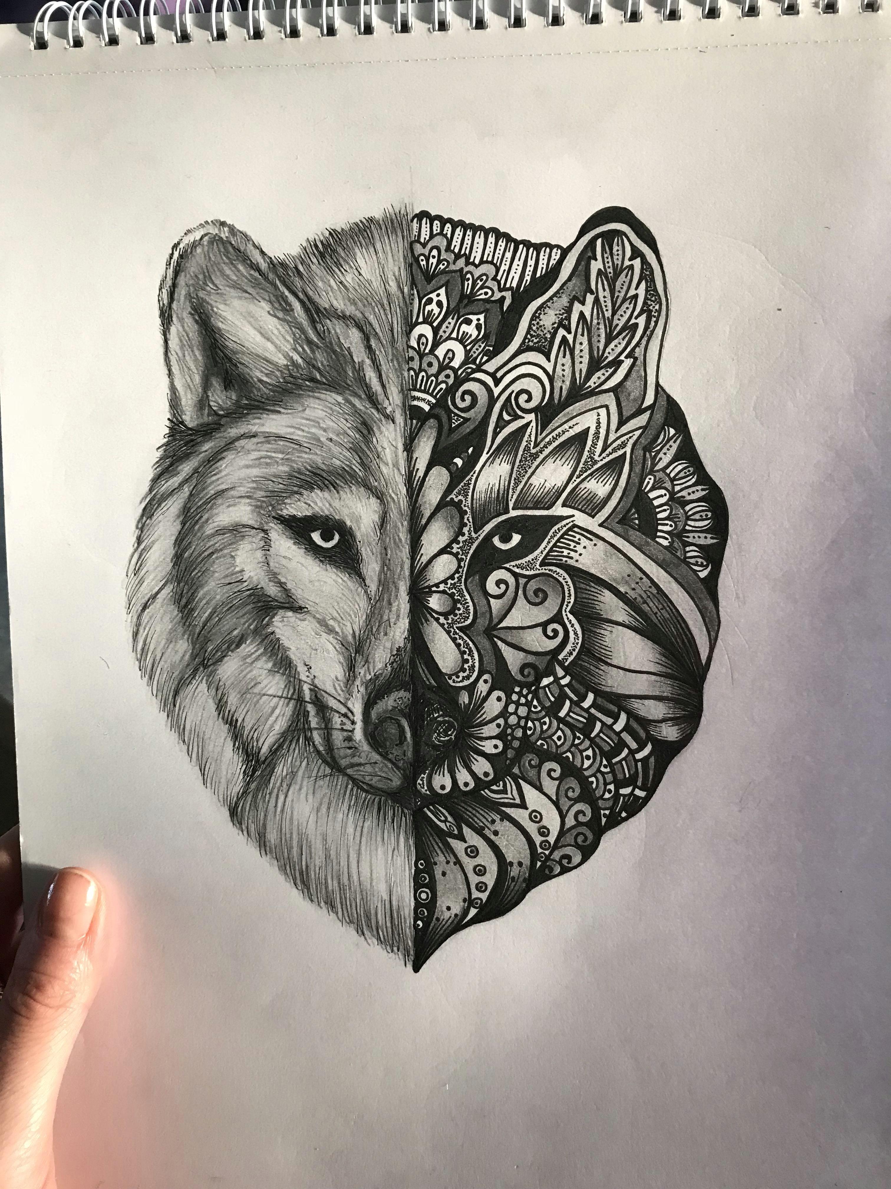 wolf mandala instagram samigray tattoo art