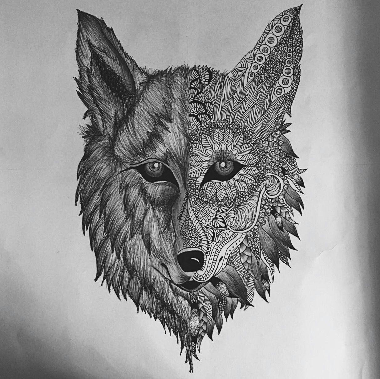 wolf wolfmandala animal mandala