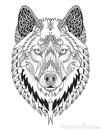 zentangle stock photos images amp pictures 12 030 images simple wolf