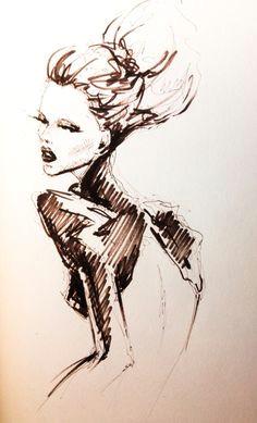 pen doodle fashion illustration by lara wolf fashion illustration croquis fashion fashion sketches
