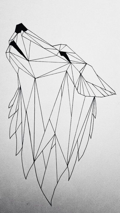 geometric wolf by koolio1715