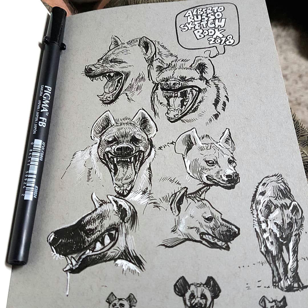 hyenas art made by alberto russo from switzerland d alberto sting draw