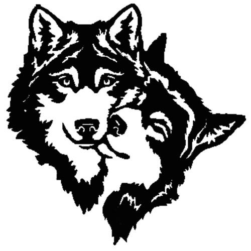 wolves die cut vinyl decal pv2260