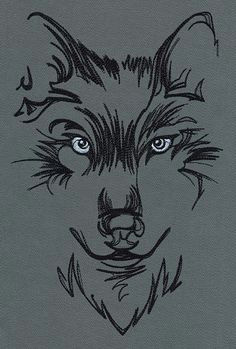 watching wolf urban threads unique and awesome embroidery designs idee tattoo applikationen