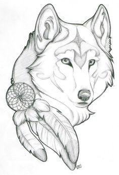 wolf drawing indianer tattoo autoaufkleber projekte zeichnen ideen furs zeichnen