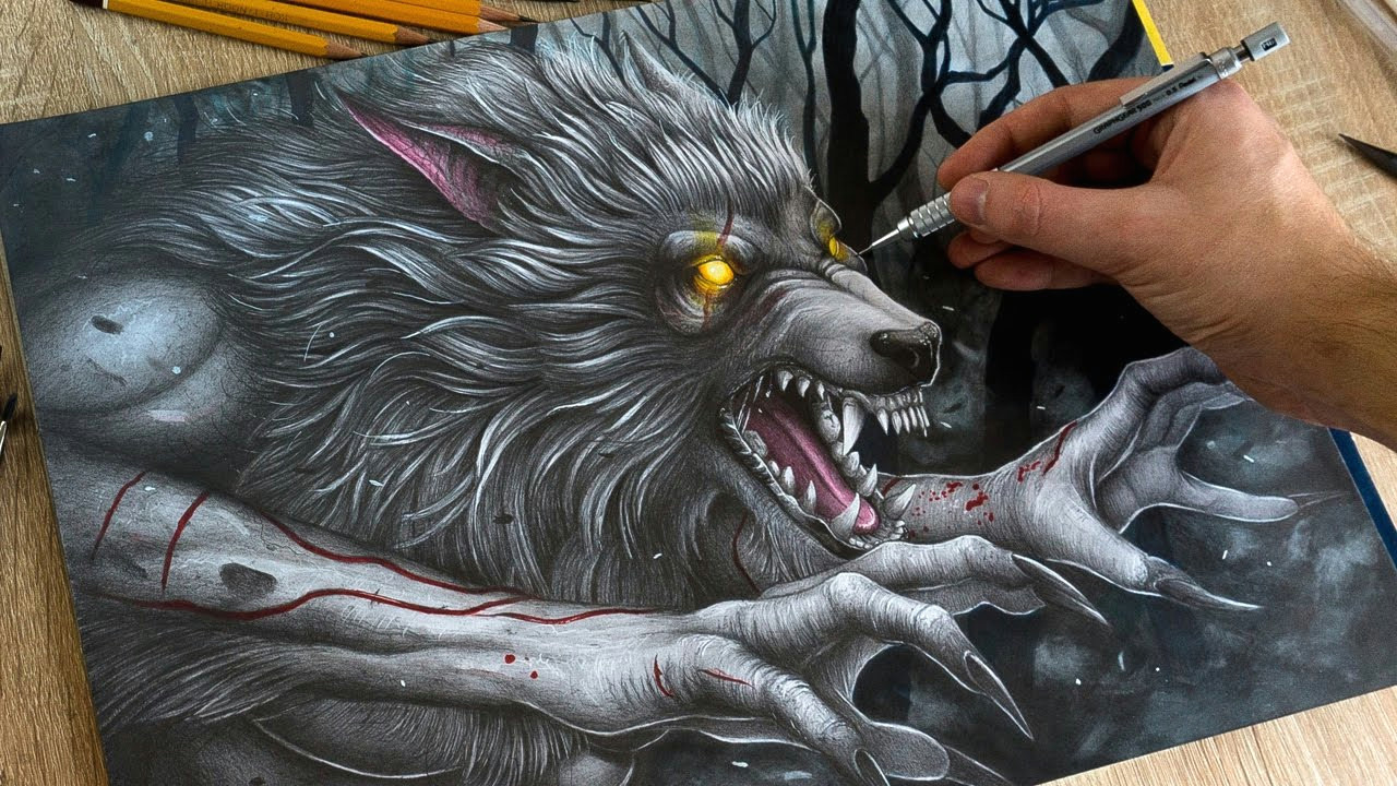 drawing werewolf