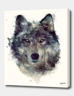 persevere watercolor wolf watercolor animals art plastique a