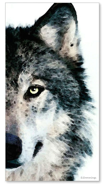 wolf art print painting wolves timber a 10 63 x 20 print is 45 00 at this