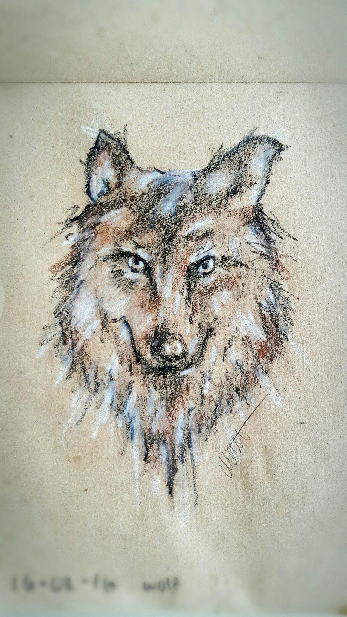 wolf drawing in crayons crayon drawings crayons watercolor art pastels wolf
