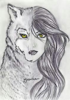 4dbf5b38a3159624ddf8732555c66639 werewolf drawings wolf girl jpg 736a 1052