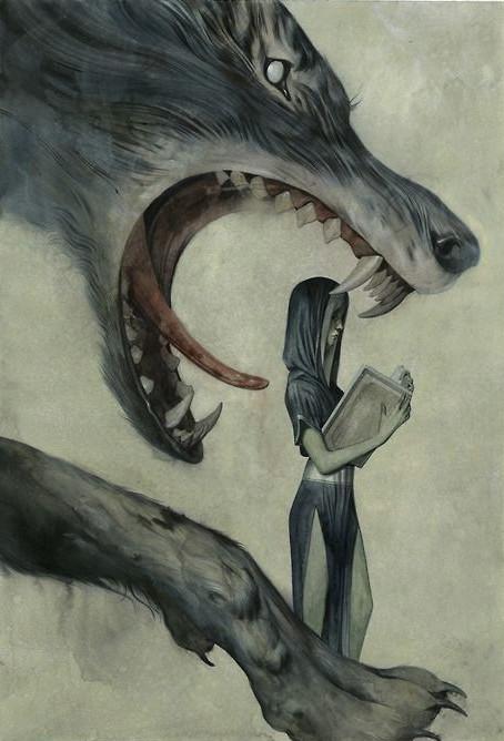 big bad wolf red riding hood magick amazing art cool art