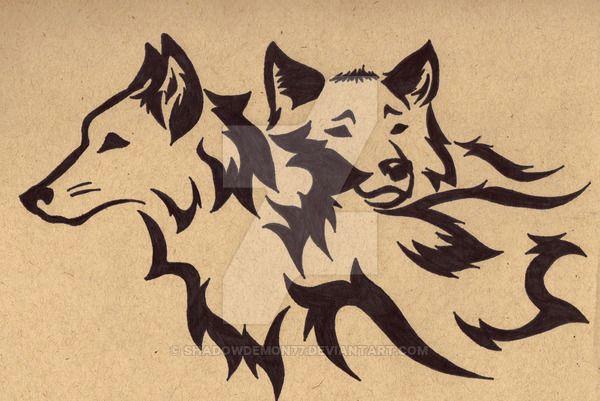 tribal wolf mates three by shadowdemon77 on deviantart