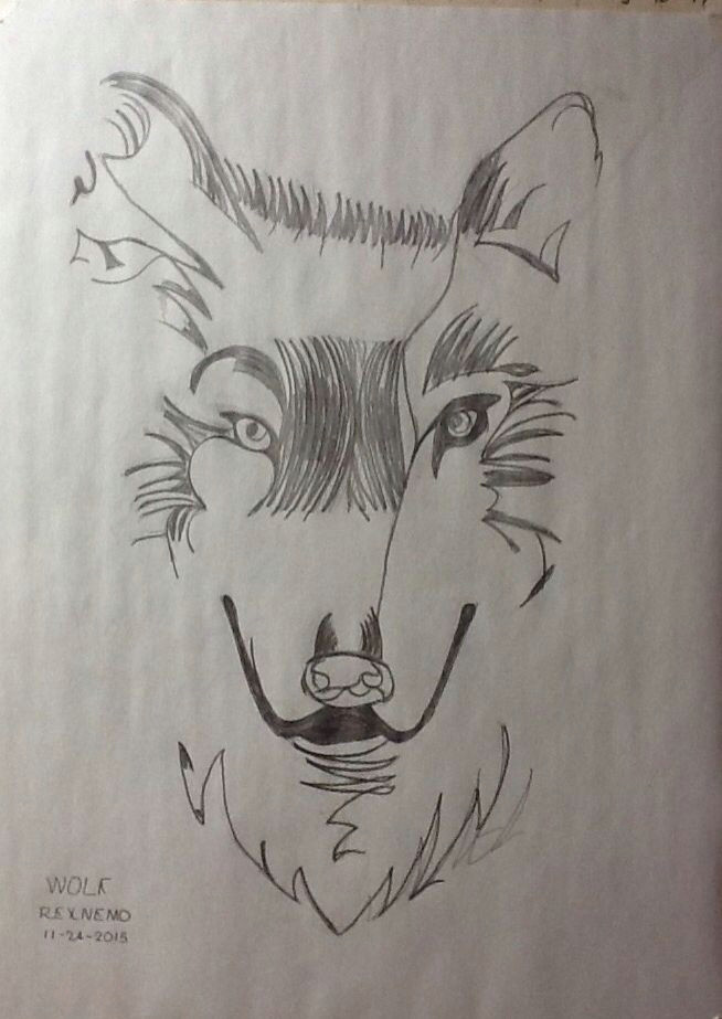 wolf by rexnemo 11 24 2015 wolf drawings nature drawing s