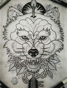 Wolf Neo Trad Drawing 316 Best Neo Traditional Images In 2019 Tattoo Ideas Design