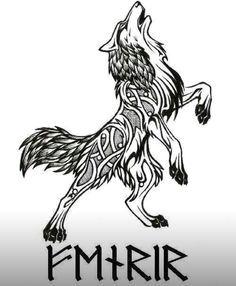 bildergebnis fur viking wolf design