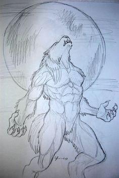 werewolf drawing 7