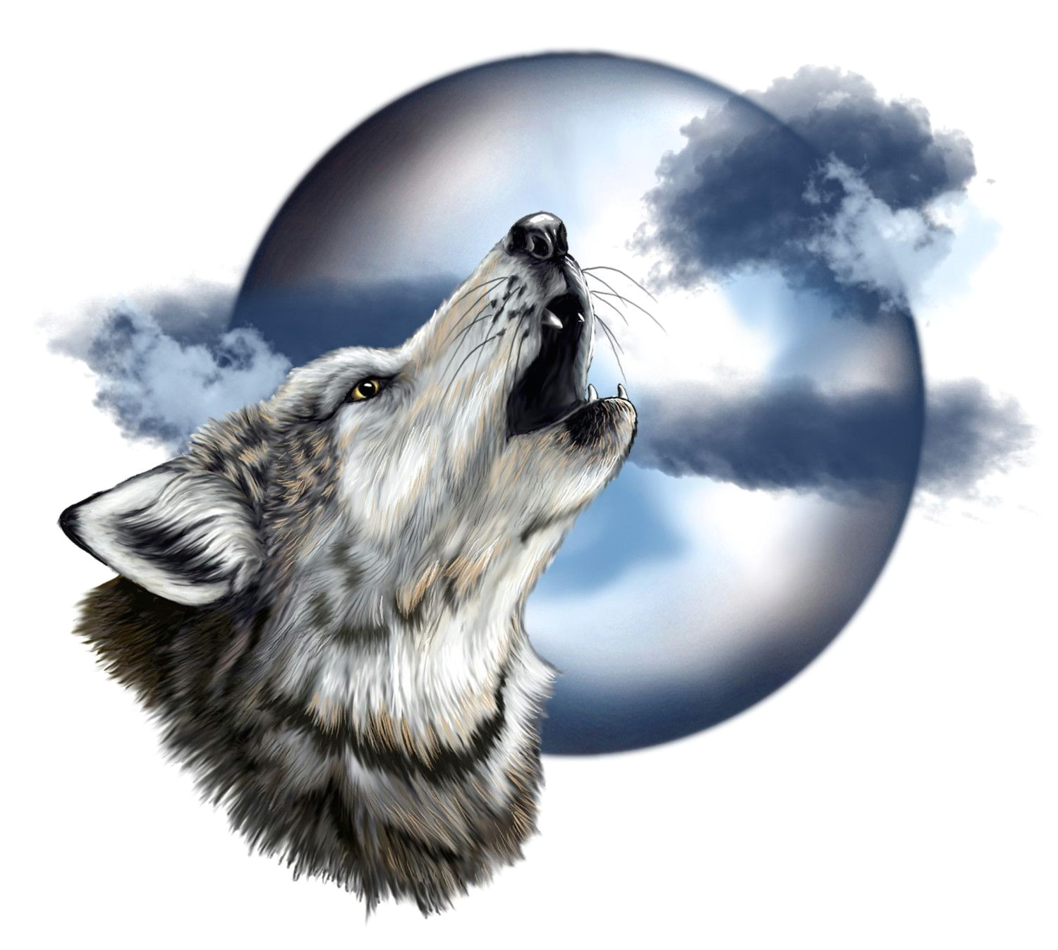 howling wolf head howling wolf