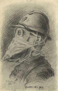 drawing by henri houblain europeana 1914 1918 cc by sa europeana a ww1