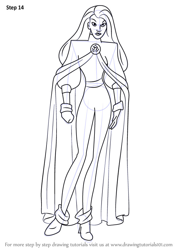 X-men Drawing Easy Learn How to Draw Storm From X Men X Men Step by Step Drawing