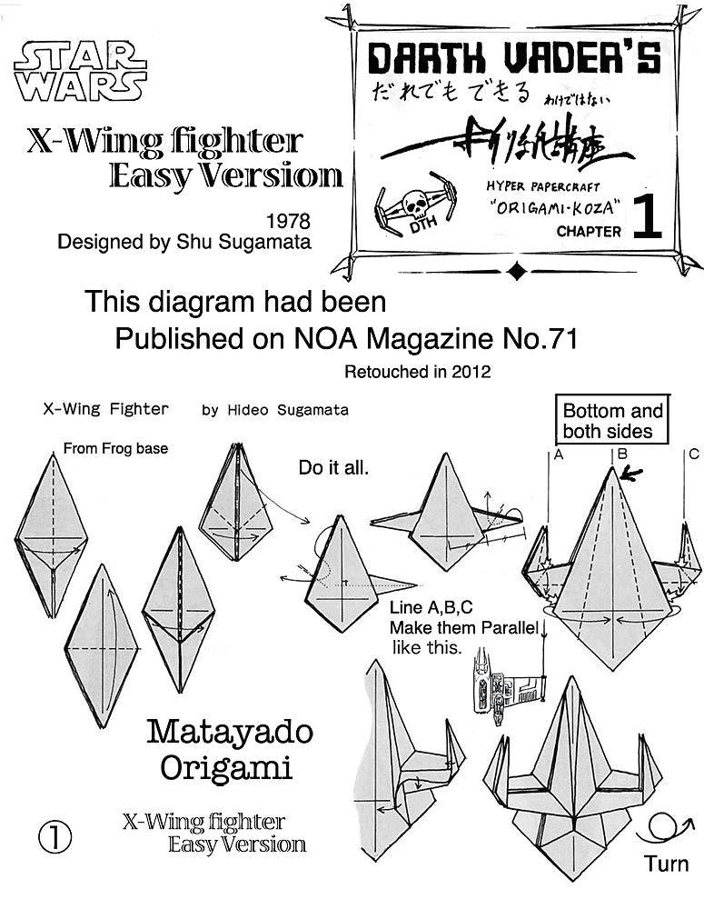 star wars origami origami star wars origami origami origami paper origami diagrams o xwing fighter origami diagram easy version