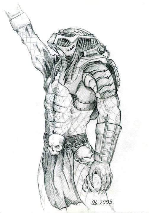 2005 predator tattoo predator art alien