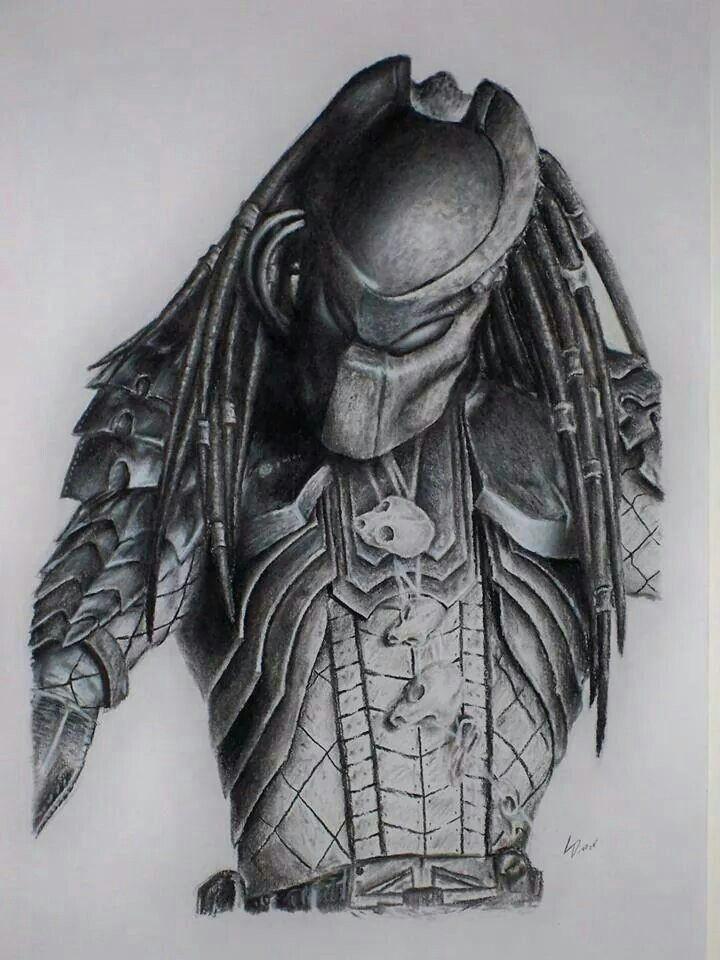 predator pencil drawing by louie diaz wolf predator predator art alien vs predator