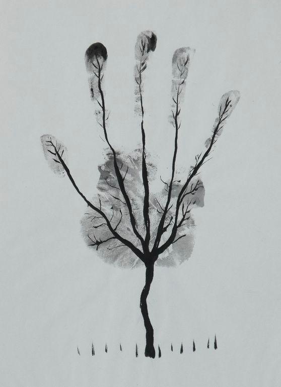 saatchi art artist ahmed al safi pen and ink 2005 drawing man s hand tree saatchiart com