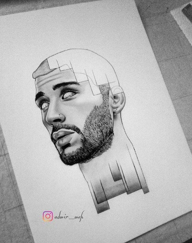 my drawing of popular singer zayn malik in tumblr style check my instagram admir meh