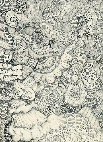 organic by urban myth luis alves via flickr psychedelic art zen doodle