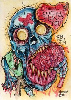 i chew chew chews you zombie card