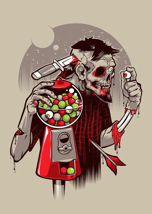 illustration sketches digital illustration zombies street art poster zombie art