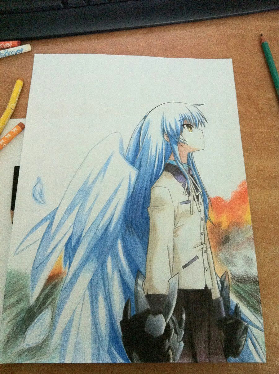 Angel Anime Drawings Angel Beats Angel Awesome Drawing whoever Drew This I
