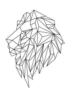 Animal Pattern Drawing Lion Geometric Tattoo Designs Geometric Drawing Geometric