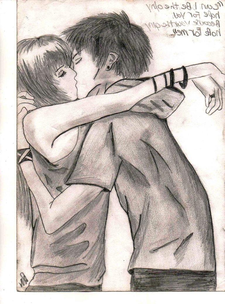 boy and girl kissing drawing 2 jpg