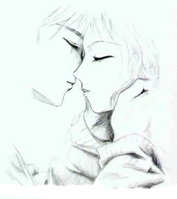 Anime Couple Kissing Drawing Anime Kiss Wish I Could Draw This Inspiring Things Anime