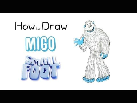 Bigfoot Drawing Easy How to Draw Migo From Smallfoot Drawings Step by Step