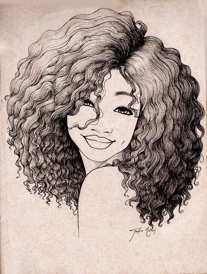 Black Hair Girl Draw Pin by Preity Vyas On Motif Hair Art Black Girl Art Afro Art